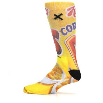 Image of Yellow Kellogg's Corn Pops Men's Casual Socks (side-2-12)