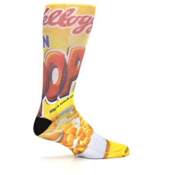 Image of Yellow Kellogg's Corn Pops Men's Casual Socks (side-1-24)