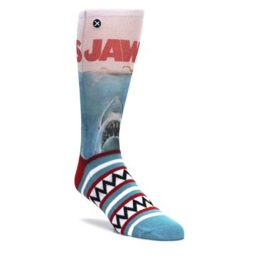 Image of Blue Red Jaws Shark Men's Casual Socks (side-1-front-01)