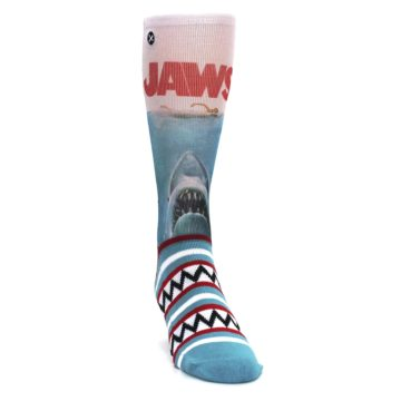 Image of Blue Red Jaws Shark Men's Casual Socks (side-1-front-03)