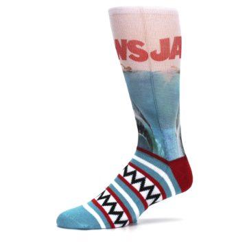 Image of Blue Red Jaws Shark Men's Casual Socks (side-2-10)