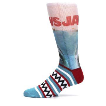 Image of Blue Red Jaws Shark Men's Casual Socks (side-2-11)