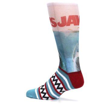 Image of Blue Red Jaws Shark Men's Casual Socks (side-2-13)