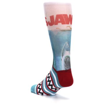 Image of Blue Red Jaws Shark Men's Casual Socks (side-2-back-15)