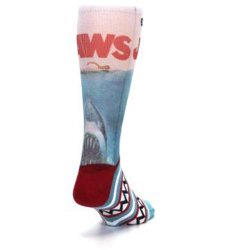 Image of Blue Red Jaws Shark Men's Casual Socks (side-1-back-20)