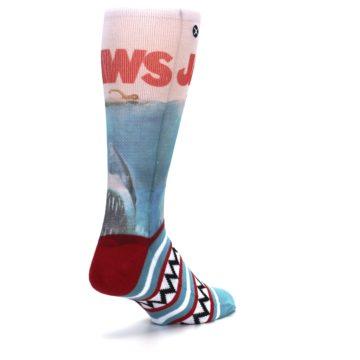 Image of Blue Red Jaws Shark Men's Casual Socks (side-1-back-21)