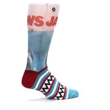 Image of Blue Red Jaws Shark Men's Casual Socks (side-1-23)