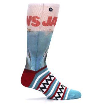 Image of Blue Red Jaws Shark Men's Casual Socks (side-1-24)