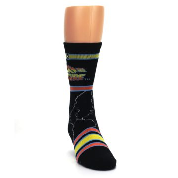 Image of Black Back to the Future Movie Men's Casual Socks (side-1-front-03)