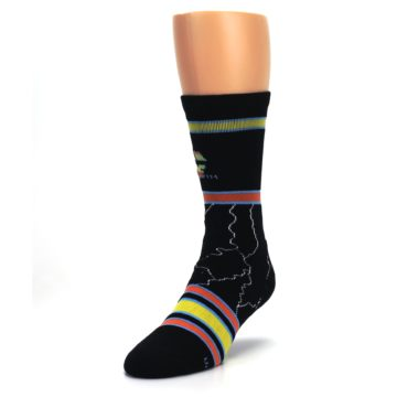 Image of Black Back to the Future Movie Men's Casual Socks (side-2-front-07)