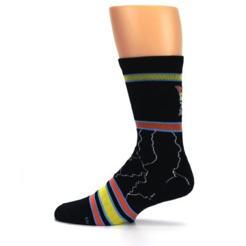 Image of Black Back to the Future Movie Men's Casual Socks (side-2-12)