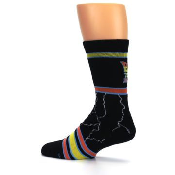 Image of Black Back to the Future Movie Men's Casual Socks (side-2-13)