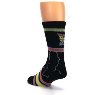 Image of Black Back to the Future Movie Men's Casual Socks (side-2-back-15)