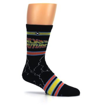 Image of Black Back to the Future Movie Men's Casual Socks (side-1-25)