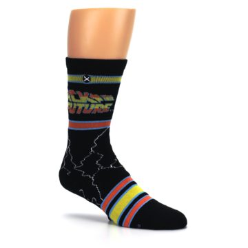 Image of Black Back to the Future Movie Men's Casual Socks (side-1-26)