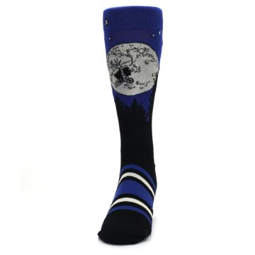 Image of Blue Black ET Alien Movie Men's Casual Socks (front-05)