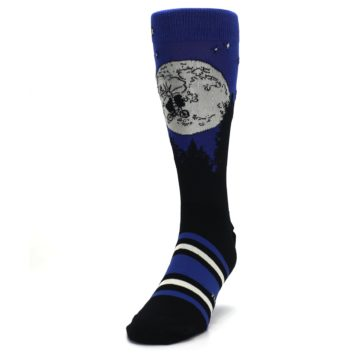 Image of Blue Black ET Alien Movie Men's Casual Socks (side-2-front-06)