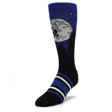 Image of Blue Black ET Alien Movie Men's Casual Socks (side-2-front-07)