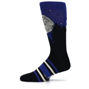 Image of Blue Black ET Alien Movie Men's Casual Socks (side-2-11)