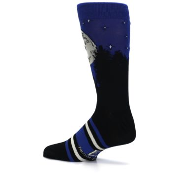 Image of Blue Black ET Alien Movie Men's Casual Socks (side-2-13)
