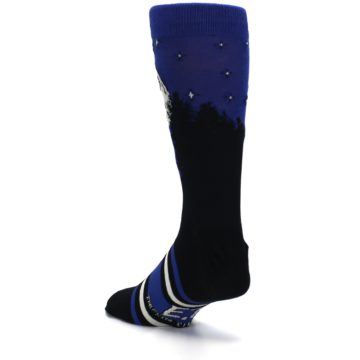 Image of Blue Black ET Alien Movie Men's Casual Socks (side-2-back-15)