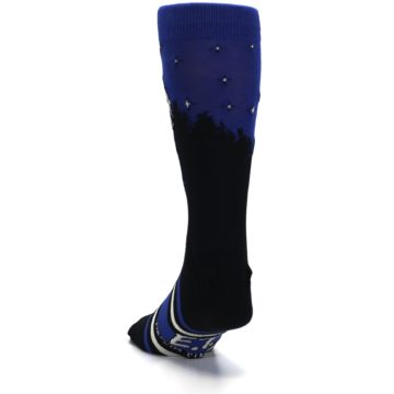 Image of Blue Black ET Alien Movie Men's Casual Socks (side-2-back-16)