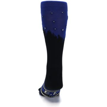 Image of Blue Black ET Alien Movie Men's Casual Socks (back-17)