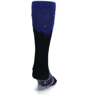 Image of Blue Black ET Alien Movie Men's Casual Socks (back-19)