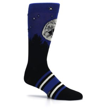 Image of Blue Black ET Alien Movie Men's Casual Socks (side-1-25)