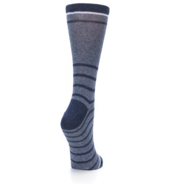 Image of Blue Navy Heathered Stripe Women's Dress Sock (side-1-back-21)