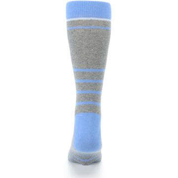 Image of Gray Blue Heathered Stripe Men's Dress Socks (back-18)