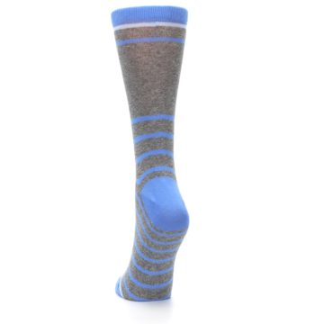 Image of Gray Blue Heathered Stripe Women's Dress Socks (back-17)