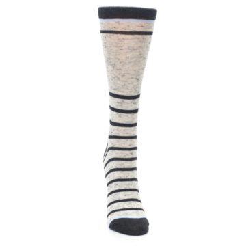 Image of Light Gray Heathered Stripe Women's Dress Socks (front-04)