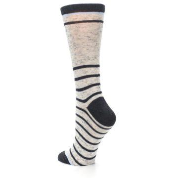 Image of Light Gray Heathered Stripe Women's Dress Socks (side-2-back-15)