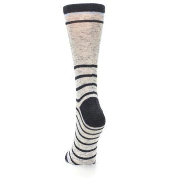 Image of Light Gray Heathered Stripe Women's Dress Socks (back-17)