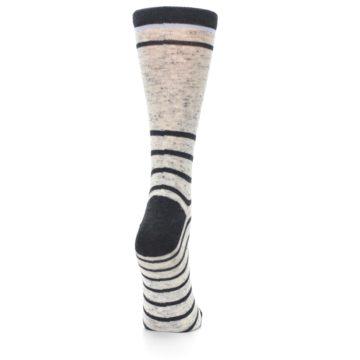 Image of Light Gray Heathered Stripe Women's Dress Socks (side-1-back-20)