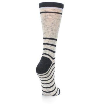 Image of Light Gray Heathered Stripe Women's Dress Socks (side-1-back-21)