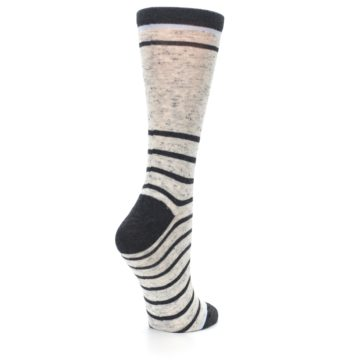 Image of Light Gray Heathered Stripe Women's Dress Socks (side-1-back-22)