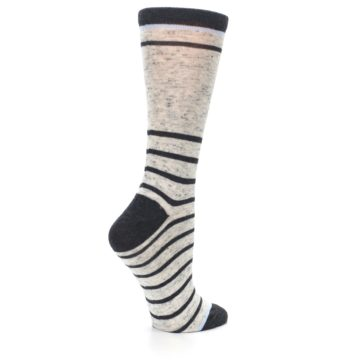 Image of Light Gray Heathered Stripe Women's Dress Socks (side-1-23)
