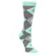 Mint Green Argyle Women's Wedding Socks