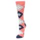 Image of Coral Navy Argyle Women's Dress Socks (side-2-front-08)