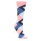 Pink Blue Women's Argyle Socks