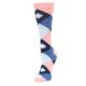 Image of Pink Blue Argyle Women's Dress Socks (side-2-front-08)