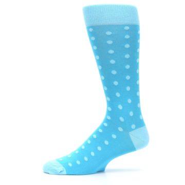 Image of Pool Malibu Polka Dot Groomsmen Wedding Men's Dress Socks (side-2-11)