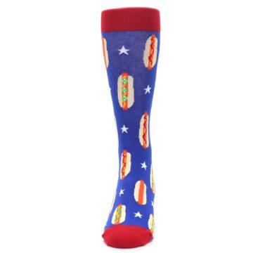 Image of Blue Red Hot Dogs Men's Dress Socks (front-05)