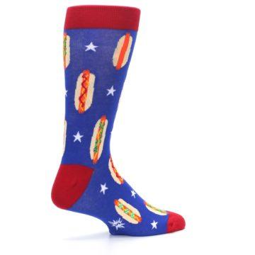 Image of Blue Red Hot Dogs Men's Dress Socks (side-1-23)