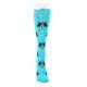 Image of Blue Black Umbrella Cats Women's Knee High Sock (front-04)