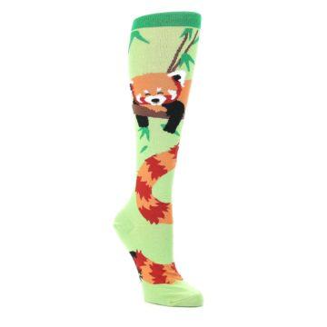 Green-Red-Panda-Womens-Knee-High-Sock-Sock-It-To-Me