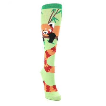 Image of Green Red Panda Women's Knee High Sock (side-1-front-03)