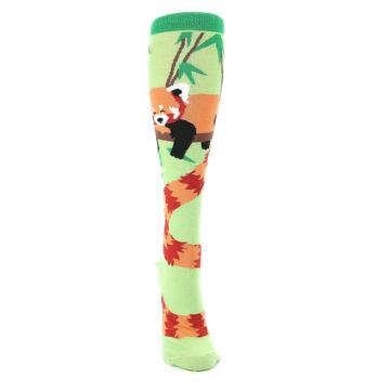 Image of Green Red Panda Women's Knee High Sock (front-04)